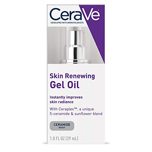 Cerave - CeraVe Skin Renewing Gel Oil - Face Gel Oil/Face Moisturizer Booster for use Before Applying or Combined with Face Lotion, Night Cream, Wrinkle Cream or Anti Aging Face Cream, 1 oz