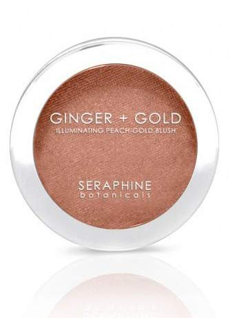 Séraphine - Seraphine Botanicals Ginger + Gold Illuminating Peach Frosting Blush - Vegan Cheek Color 0.11 oz