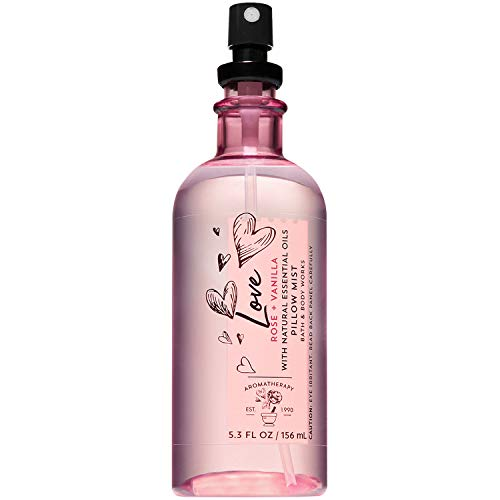 Bath & Body Works - Bath and Body Works Aromatherapy LOVE - ROSE + VANILLA Pillow Mist with Natural Essential Oils 5.3 Fluid Ounce