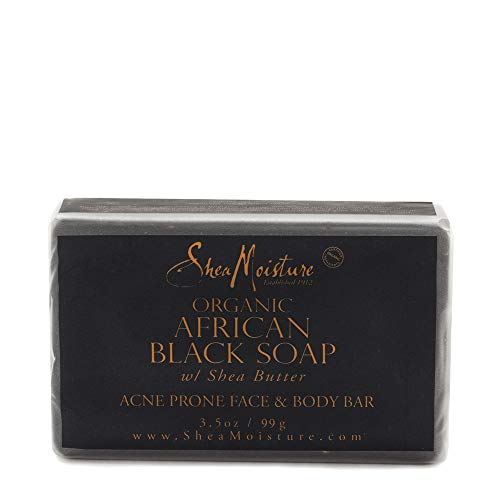 Sheamoisture - SheaMoisture Face & Body Bar for Oily, Blemish-Prone Skin African Black Soap to Clarify Skin 3.5 oz