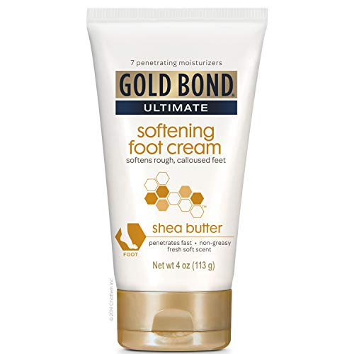 Gold Bond - Gold Bond Ultimate Softening Foot Cream with Shea Butter, 4 Ounce, Leaves Rough, Dry, Calloused Feet, Heels, and Soles Feeling Smoother and Softer, Includes Vitamins A, C, E, and Silk Amino Acids