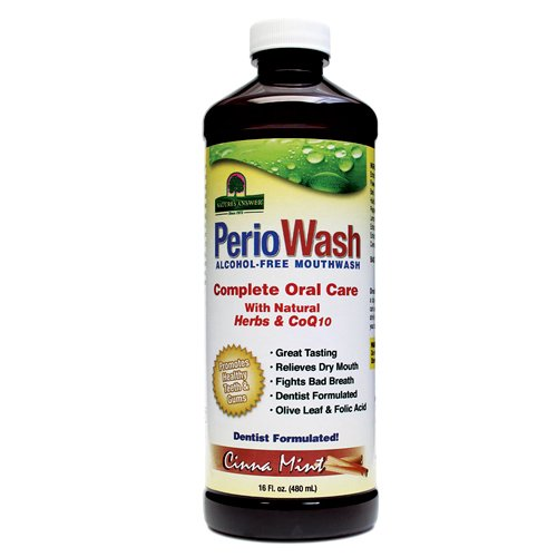 Nature's Answer - Nature's Answer Periowash Alcohol-Free Mouthwash, Cinamint, 16 Ounce (Pack of 12)