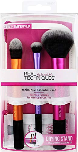 Real Techniques Cruelty Free Travel Essentials Makeup Brush Set