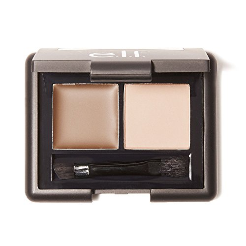 E.l.f Cosmetics - e.l.f. Cosmetics Studio Eyebrow Kit Brow Powder and Wax Duo for More Defined Eyebrows, Brush Included, Light Tint