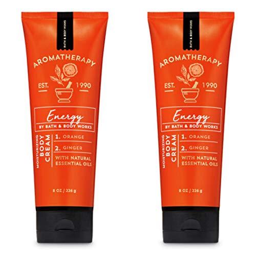 Bath & Body Works - Bath & Body Works Aromatherapy Energy Orange Ginger Body Cream 8.0 oz, 226g (2 Pack)