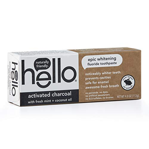 Hello Oral Care - Hello Oral Care Activated Charcoal Fluoride Whitening Toothpaste