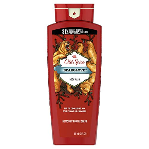Old Spice Old Spice Body Wash for Men, Wild Collection Bear Glove Scent, 21 Fl Oz (Pack Of 4)