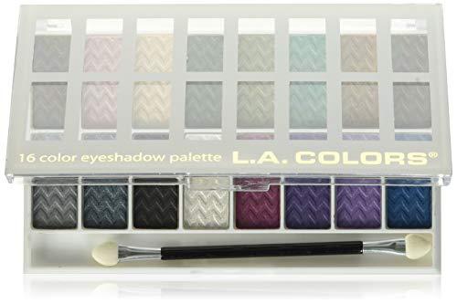 L.a Colors - L.A. Colors 18 Color Eyeshadow Palette, Downtown Brown, 0.70 Ounce