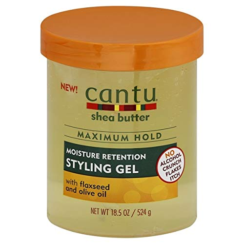 Cantugel - Cantu Shea Butter Maximum Hold Moisture Retention with Flaxseed and Olive Oil Styling Gel 18.5oz