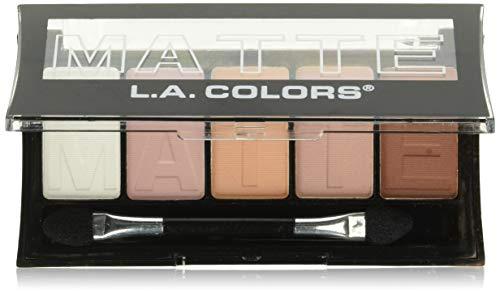 L. A. Colors - L.A. Colors 5 Color Matte Eyeshadow, Pink Chiffon, 0.08 Ounce