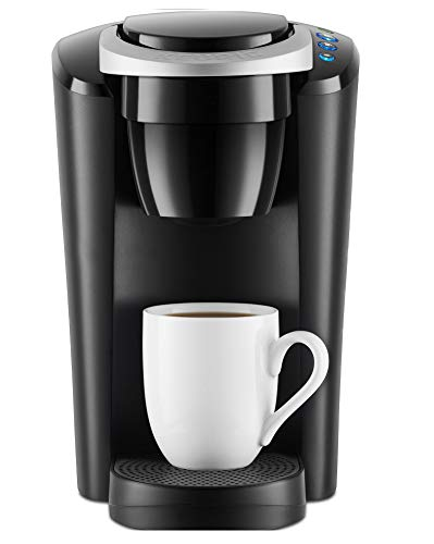 Kiss Usa - Keurig K-Compact Single Serve Coffee Brewer Maker in Black with the Slimmest Removable Reservoir features Auto Off and Simple Button Controls