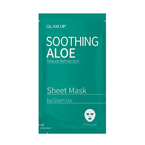 Glam Up - Sheet mask by glam up BTS Soothing Aloe - Replenishing, Soothing Damaged Skin Nature made Freshly packed Daily Skin Therapy Original K-Beauty Recipe 1ea