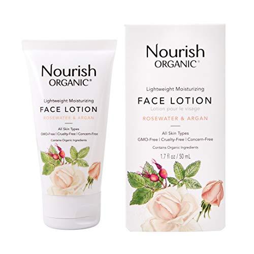 Nourish - Lightweight Moisturizing Face Lotion, Argan & Rosewater