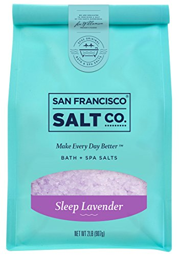 San Francisco Bath Salt Company - Sleep Lavender Bath Salts 2 lb. Luxury Gift Bag by San Francisco Salt Company