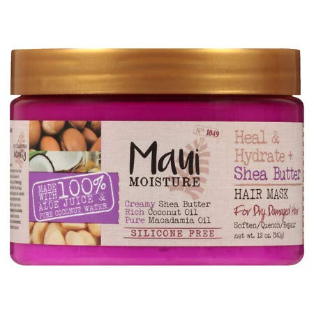 Maui Moisture - Maui Moisture Shea Butter Hair Mask 12 Ounce Jar (Heal/Hydrate) (354ml) (6 Pack)