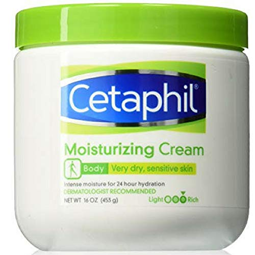 Cetaphil - Cetaphil Moisturizing Cream for Dry Sensitive Skin, Long Lasting Hydration, IJSB Fragrance/Free 16 oz (Pack of 2)
