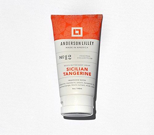 ANDERSON LILLEY - ANDERSON LILLEY Sicilian Tangerine Beach Butter Body Cream, Orange, 5 Ounce