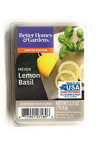 Better Homes & Gardens - Better Homes and Gardens 2018 Limited Edition Meyer Lemon Basil Wax Cubes