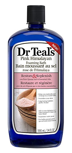 Dr Teal'S - Restore & Replenish Pure Epsom Salt & Essential Oils Pink Himalayan Foaming Bath