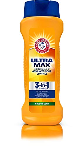 Arm & Hammer Arm & Hammer Ultra Max 3-in-1 Shampoo Conditioner Body Wash (Fresh Scent) 12 oz