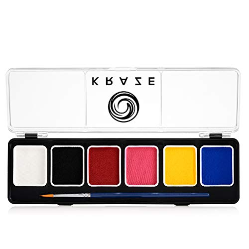Kraze FX Kraze FX Fundamentals Professional Face Paint Palette - Water Activated, Hypoallergenic, Safe, Non-Toxic Face Painting Kit for Sensitive Skin, Kids & Adults