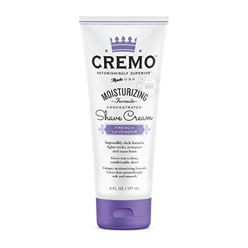 Cremo - Cremo French Lavender Moisturizing Shave Cream, Astonishingly Superior Shaving Cream For Women, Fights Nicks, Cuts And Razor Burn, 6 Ounces