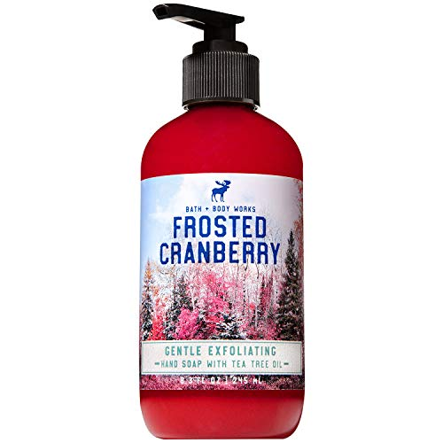 Bath & Body Works - Bath and Body Works FROSTED CRANBERRY Gentle Exfoliating Hand Soap 8.3 Fluid Ounce