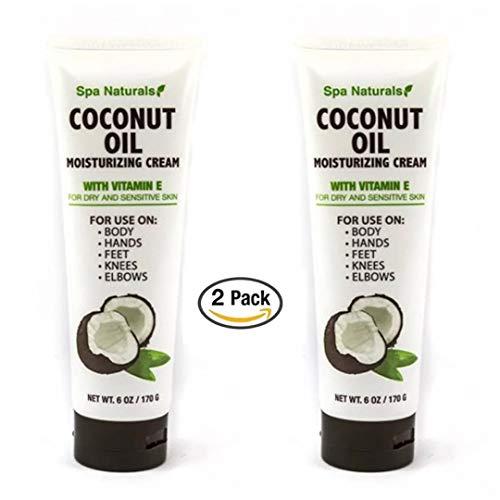 Spa Naturals - Spa Naturals Coconut Oil Moisturizing Cream with Vitamin E - 2 pk