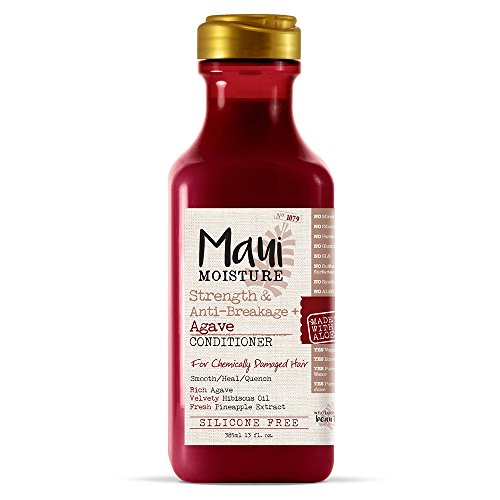 Maui Moisture - Maui Moisture Strength & Anti-Breakage + Agave Nectar Conditioner, 13 Ounce, Rich and Creamy Silicone Free Conditioner Gentle Enough For Fragile, Damaged Hair, Helps Detangle and Resist Breakage