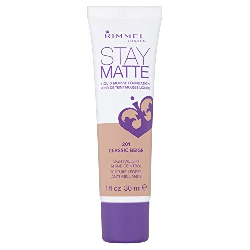 Rimmel - 3 x Rimmel London Stay Matte Liquid Mousse Foundation 30ml - 201 Classic Beige