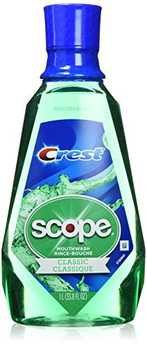 Procter & Gamble - Crest Scope Classic Mouthwash Rince 1 Liter (33.8 oz) - Pack of 2
