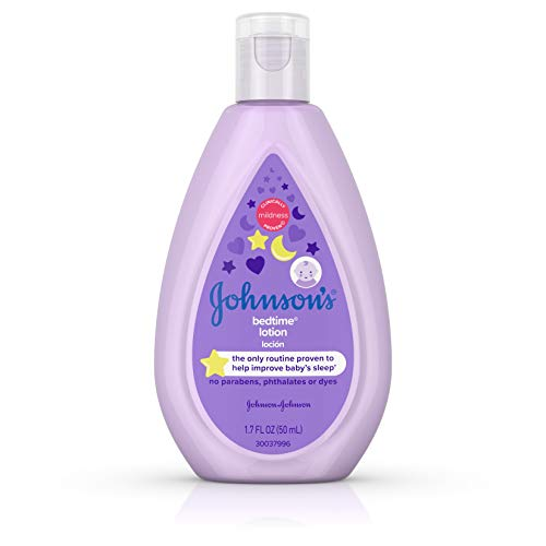 Johnson'S Baby - Johnson's Bedtime Baby Lotion with NaturalCalm Essences, Hypoallergenic & Paraben Free 1.7 oz