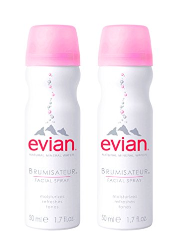 evian facial spray - evian Natural Mineral Water Facial Spray Duo, 1.7 oz. Travel Size (2 pack)