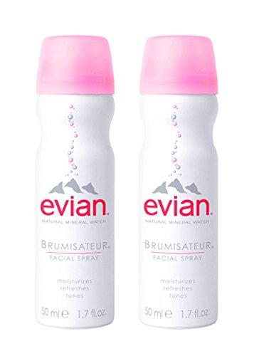 evian facial spray - evian Natural Mineral Water Facial Spray Duo, 1.7 oz. Travel Size (2 pack)