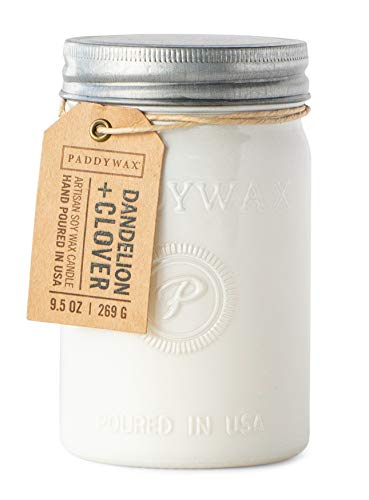 Paddywax Candles - Paddywax Relish Collection Scented Soy Wax Candle, 9.5-Ounce, Dandelion & Clover