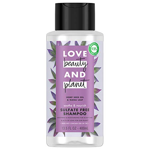Love, Beauty & Planet - Love Beauty and Planet Sulfate Free Shampoo For Nourished Hair Hemp Seed Oil and Nana Leaf Vegan, Paraben-free, Silicone-free, Cruelty-free 13.5 oz