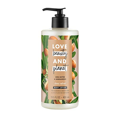 Love, Beauty & Planet - Love Beauty and Planet Shea Butter & Sandalwood Body Lotion, Shea Velvet, 13.5 oz