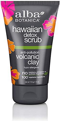 Alba Botanica - Alba Botanica Hawaiian Detox Scrub, Anti-Pollution Volcanic Clay, 4 Ounce