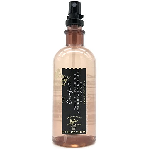 Bath & Body Works - Bath and Body Works Aromatherapy Pillow Mist with Natural Essential Oils (Comfort, Vanilla + Patchouli)