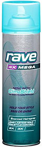 RAVE - Rave Mega Scented Aerosol Hairspray, 11 Ounce - (Value Pack of 12)