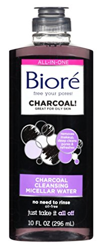 Bioré - Biore Charcoal Cleanser Micellar Water 10 Ounce (296ml) (3 Pack)