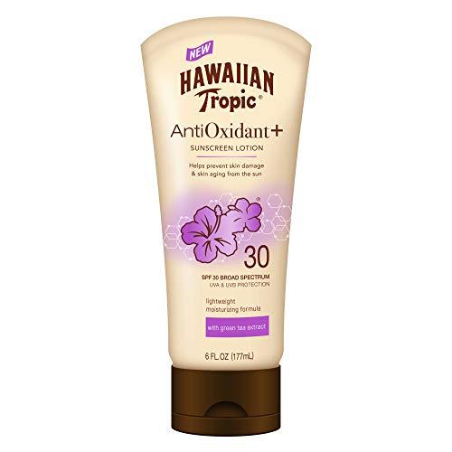 Hawaiian Tropic - Hawaiian Tropic AntiOxidant+ Sunscreen Lotion, Lightweight Sun Protection, Broad Spectrum, SPF 30, 6 Ounces
