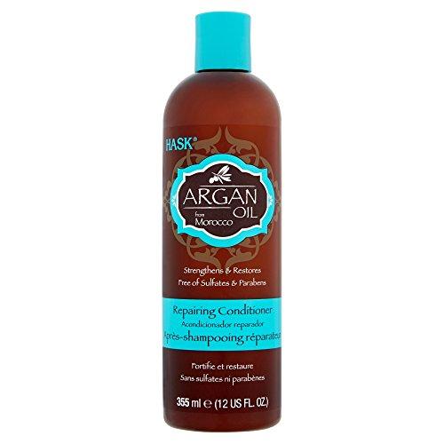 Hask - Hask Argan Oil Haircare Set (Repairing Shampoo 12oz & Conditioner 12oz, Repairing Deep Treatment 1.75oz & Repairing Healing Shine Treatment 5/8oz)