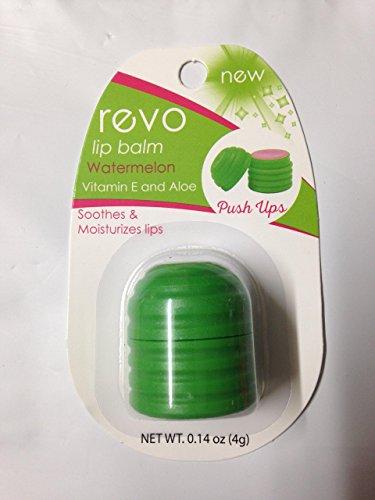 Revo - Oralabs Revo Lip Balm , Watermelon flavor with Vitamin E and Aloe, Push Ups Design