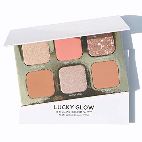 True + Luscious - Lucky Glow Palette by True + Luscious - Talc Free - Vegan, Cruelty Free, Paraben Free. Multi-use Highlighter, Blush & Bronzer - 0.78 oz