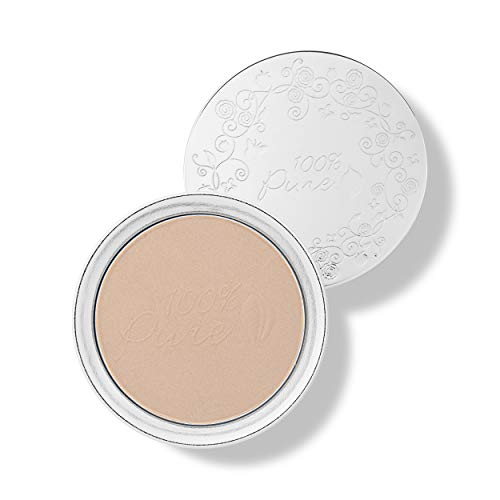 100% Pure - 100% Pure Healthy Face Powder Foundations with Sun Protection, Peach Bisque