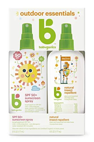 Babyganics - Babyganics Baby Sunscreen Spray SPF 50, 6oz Spray Bottle + Natural Insect Repellent 6oz Spray Bottle Combo Pack