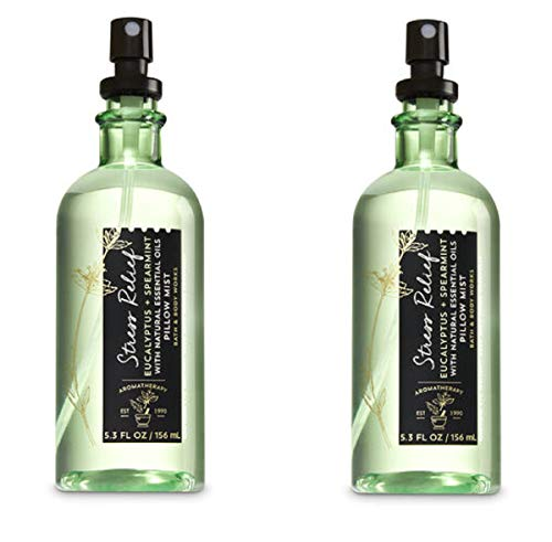 Bath & Body Works - Bath & Body Works Aromatherapy Stress Relief Eucalyptus Spearmint Pillow Mist, 5.3 Fl Oz, 2-Pack (Packaging May Vary)