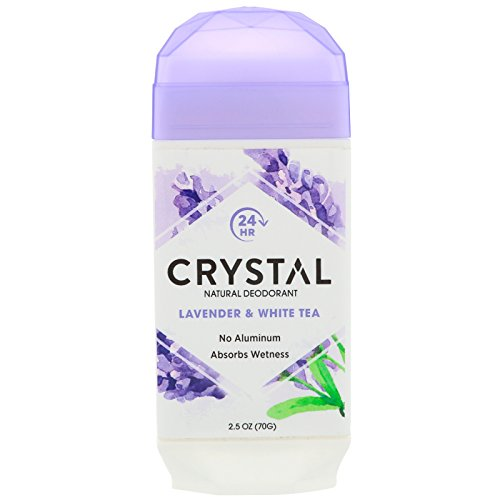 Crystal - Crystal Body Deodorant, Natural Deodorant, Lavender & White Tea , 2.5 oz (70 g), Pack of 4