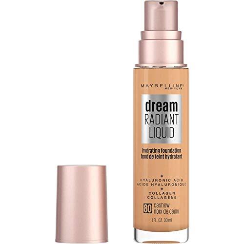 Maybelline - Maybelline dream Radiant Liquid Medium Coverage Hydrating Makeup, Lightweight Liquid Foundation, Alabaster, 1 Fl. Oz